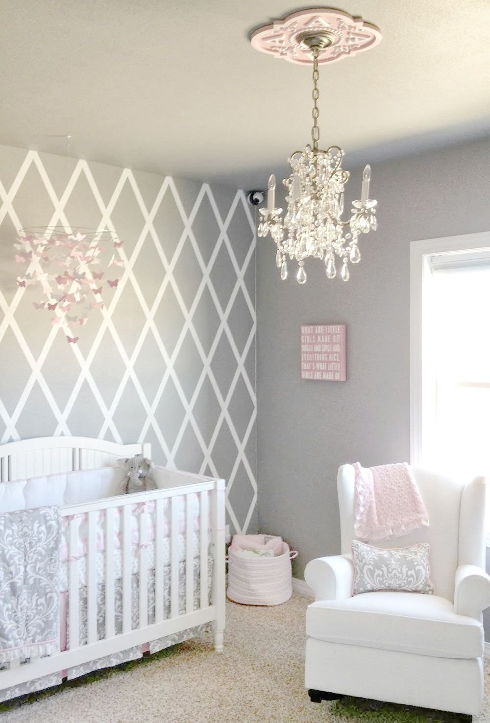 10 Ideal Baby Room Ideas For Girl pink and gray crib bedding sets baby girl nursery baby nursery 2