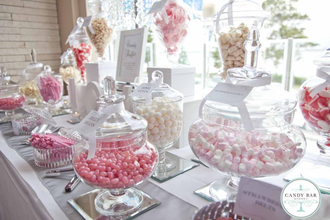 10 Perfect Candy Bar Ideas For Wedding pink and white wedding candy buffet e29da4abetterwaye29da4 pinterest 2020