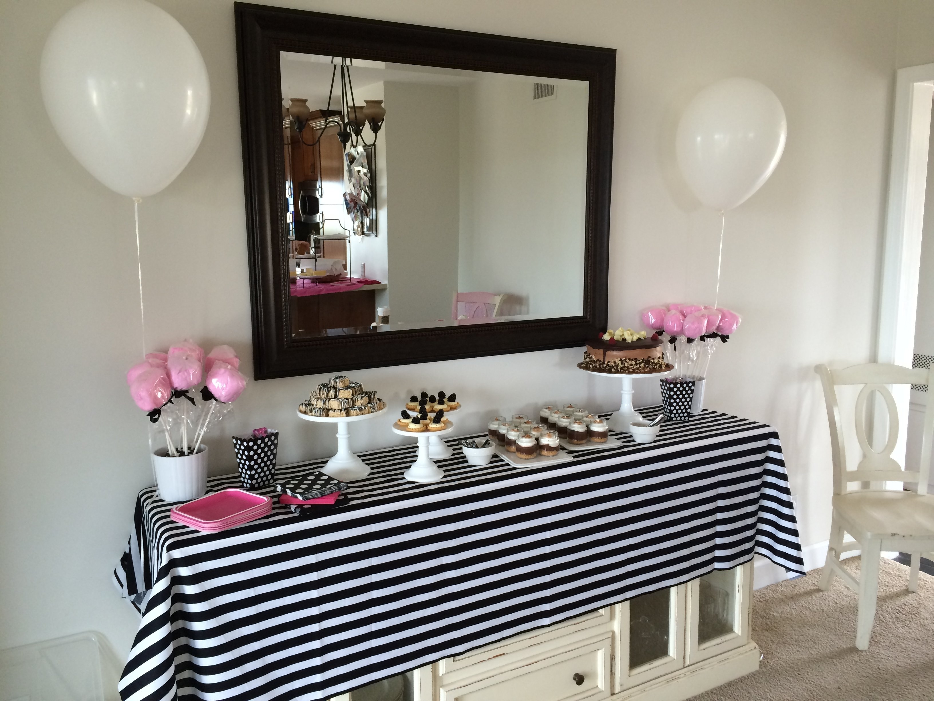 10 Great Black And White Baby Shower Ideas pink black and white baby shower meringue bake shop pink baby shower 2021