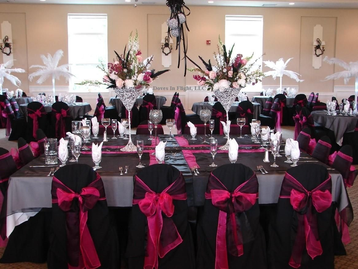 pink black and white wedding | ideas for black/hot pink and bling