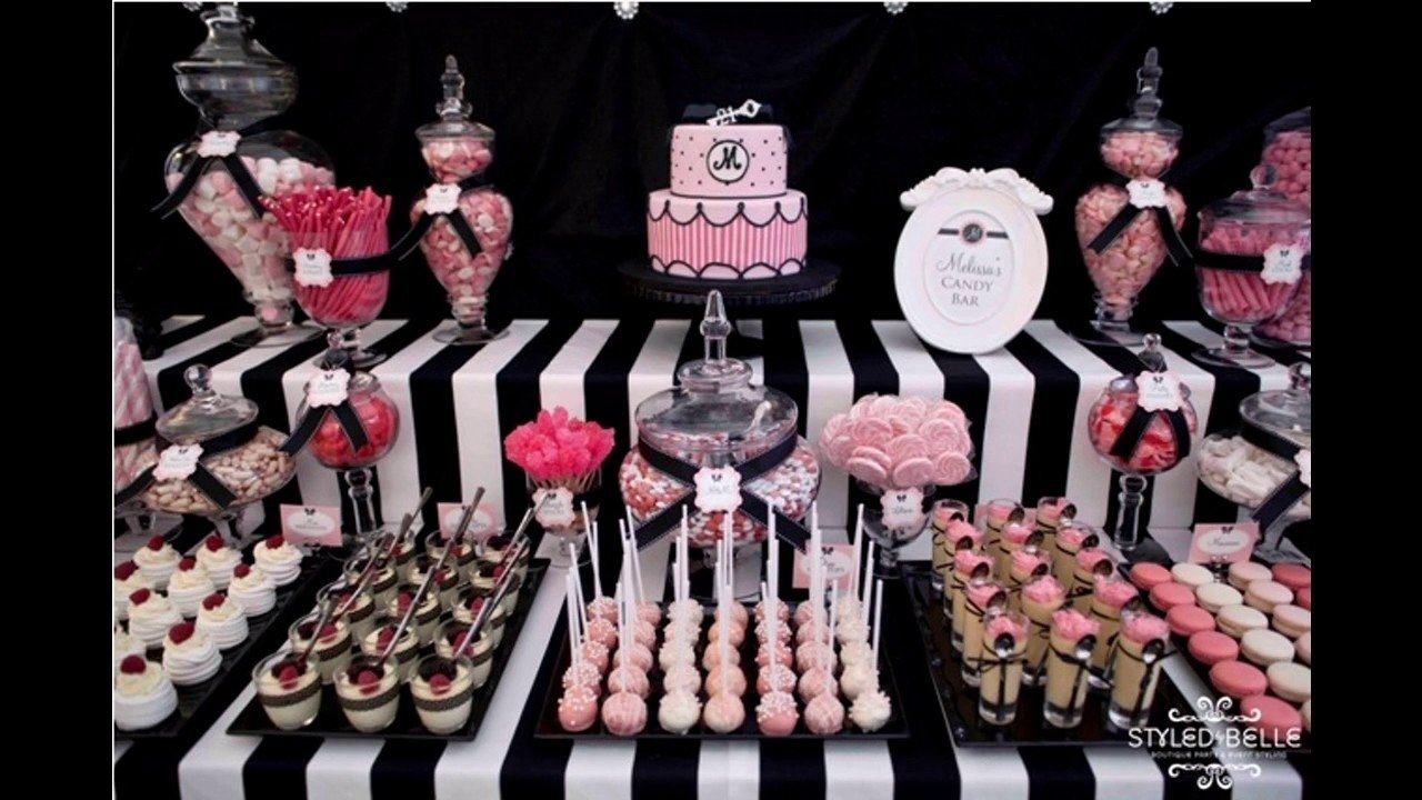 10 Famous Pink And Black Party Ideas pink black party decorating ideas youtube 2020