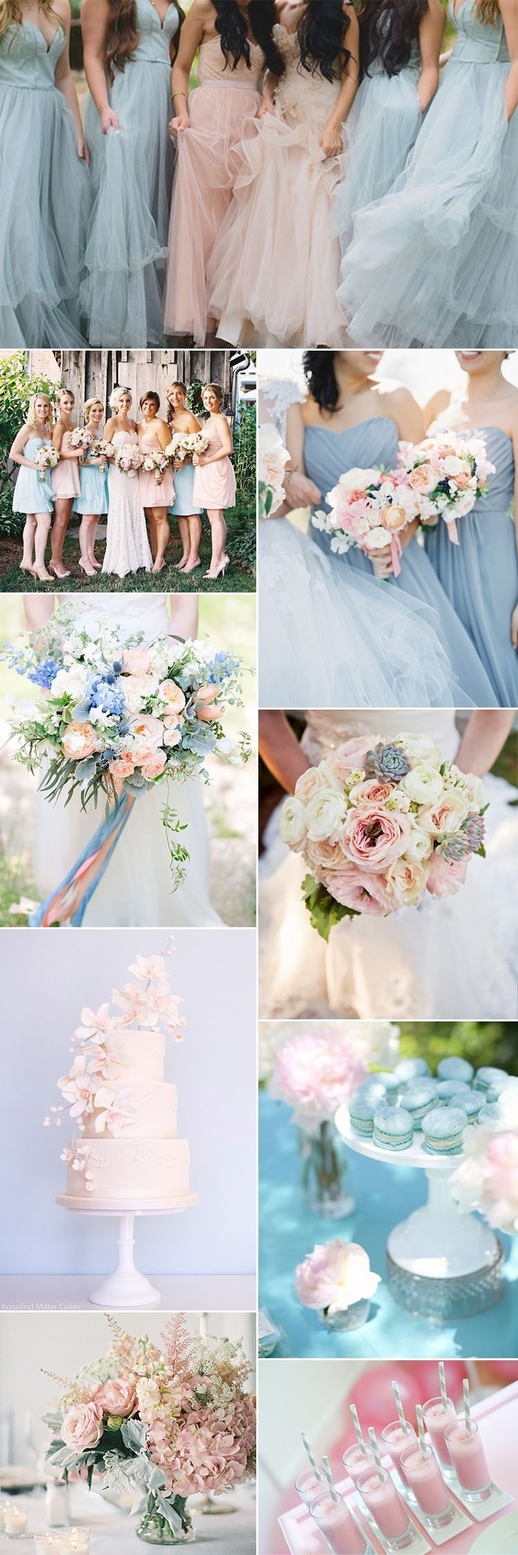 pink & blue wedding ideas inspiredpantone | rose quartz, pantone