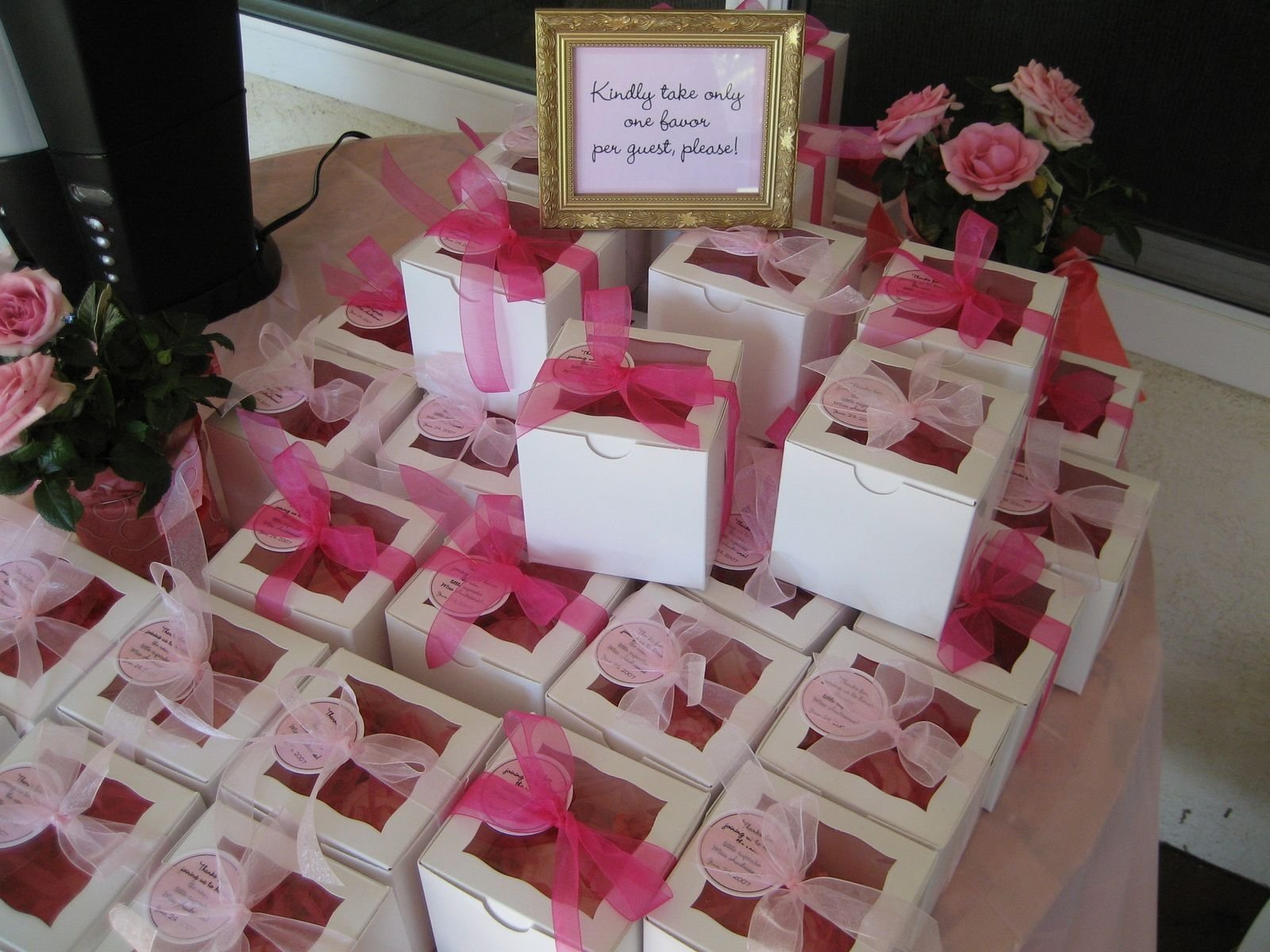 10 Attractive Baby Shower Favor Ideas To Make Yourself pink box baby shower door prize ideas baby shower ideas gallery 1 2021
