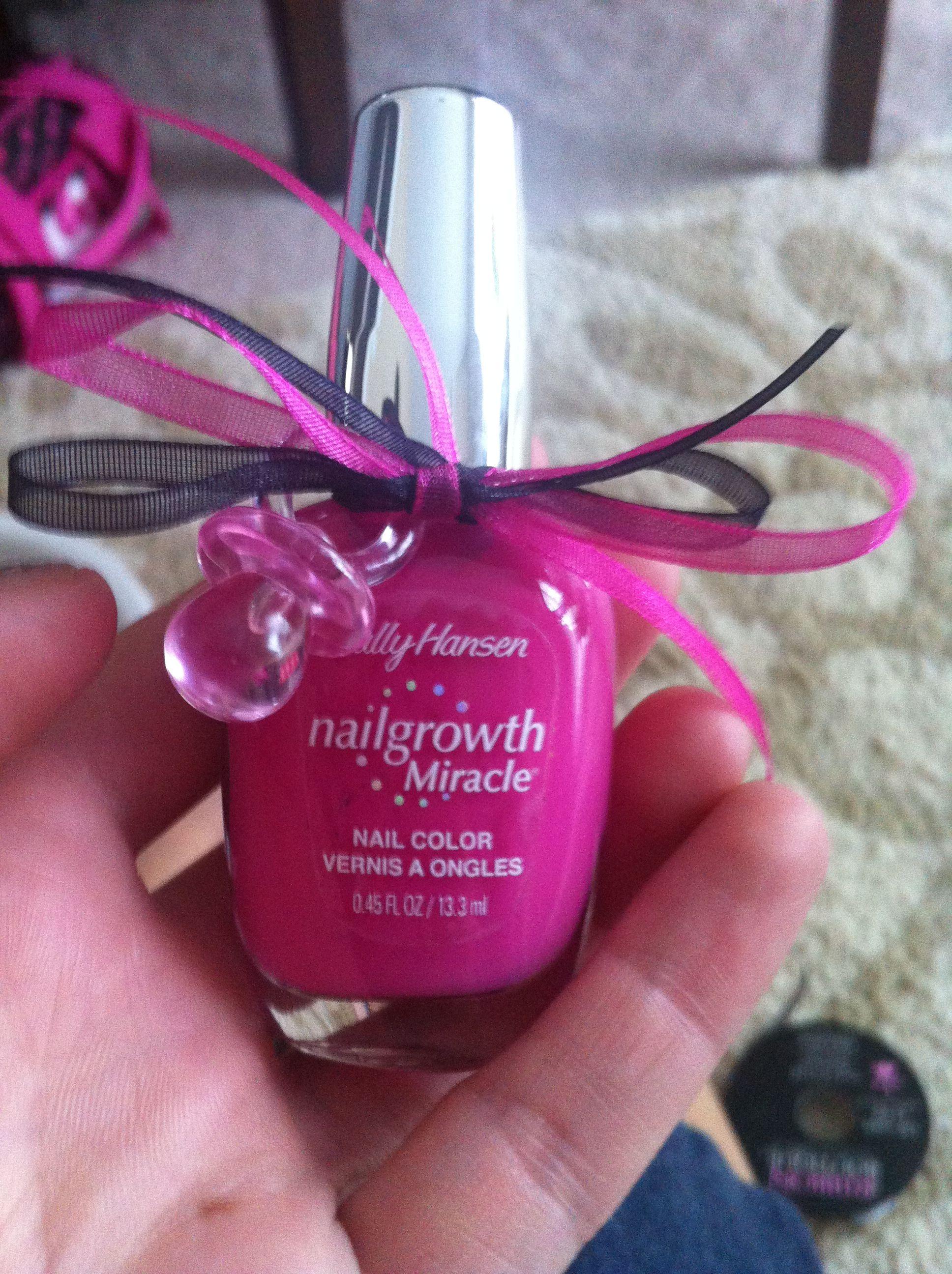10 Lovely Girl Baby Shower Favors Ideas pink girl baby shower favor ideas polish passifier ribbon 2020