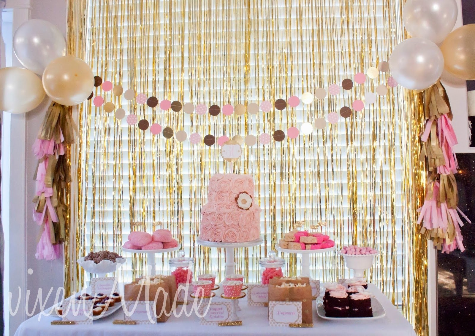 10 Fantastic 60 Birthday Party Ideas For Mom Pink Gold 60th Vixenmade Parties 1