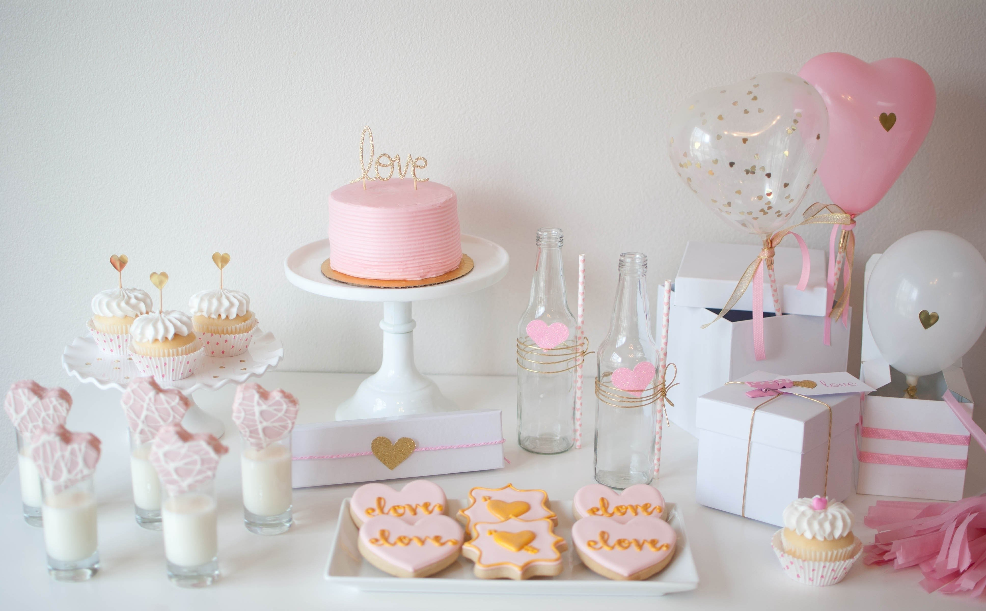 10 Fabulous Pink Party Ideas For Adults pink gold valentines day party ideas twinkle twinkle little party 2021