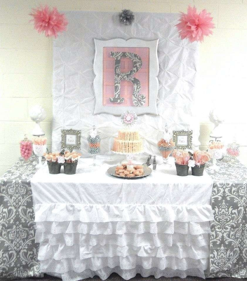 10 Stylish Pink And Gray Baby Shower Ideas pink grey damask baby shower baby shower party ideas photo 4 of 1 2020