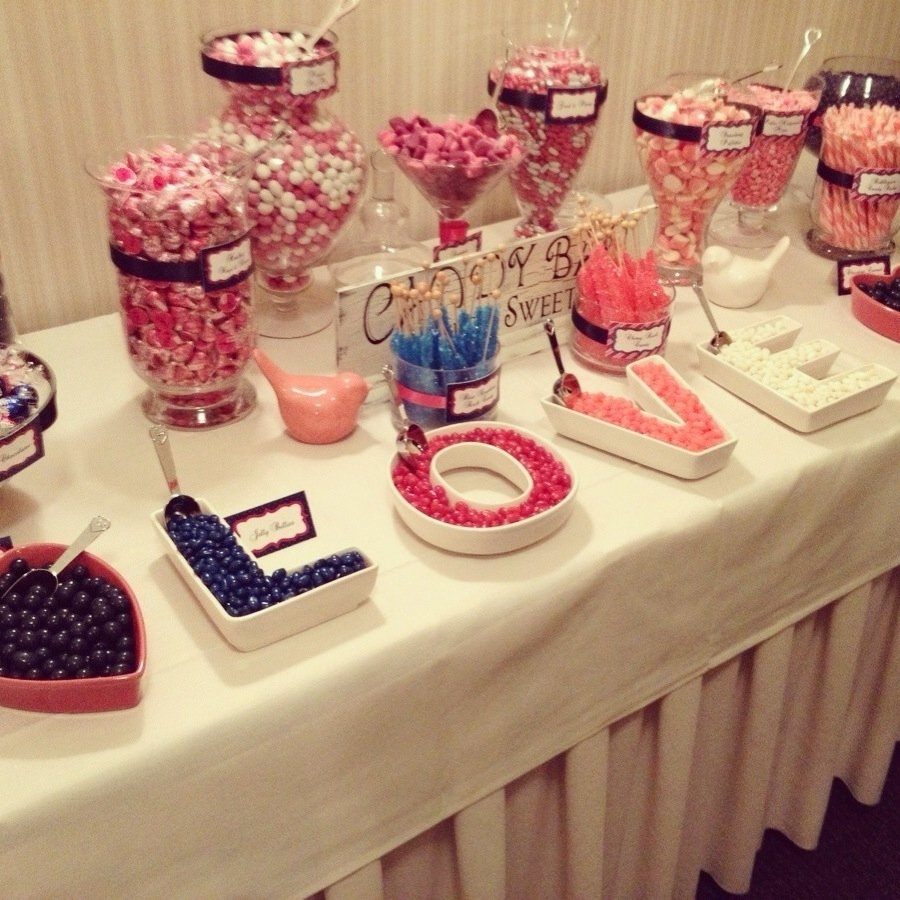 pink & navy candy bar #wedding #candybar #candy | decorate with