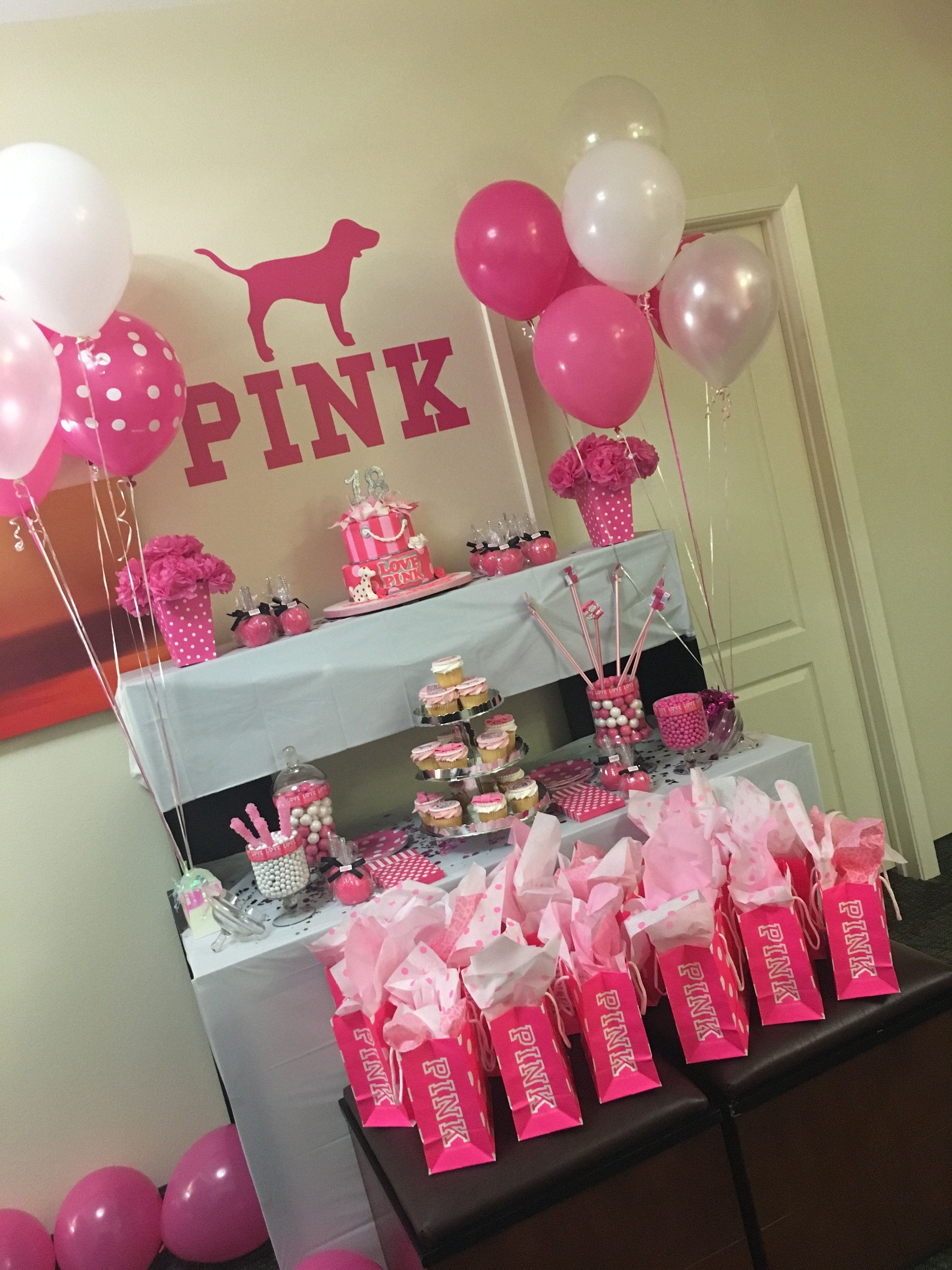 10 Most Recommended 16 Birthday Party Ideas For Girls pink party pinteres 7 2021