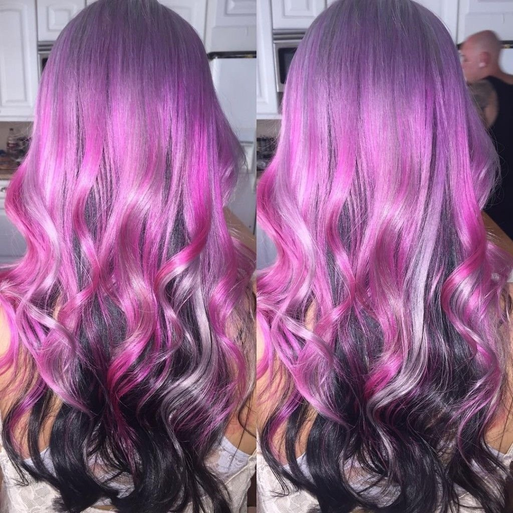 10 Unique Pink And Black Hair Ideas pink silver and black hair color hairstyles pinterest black