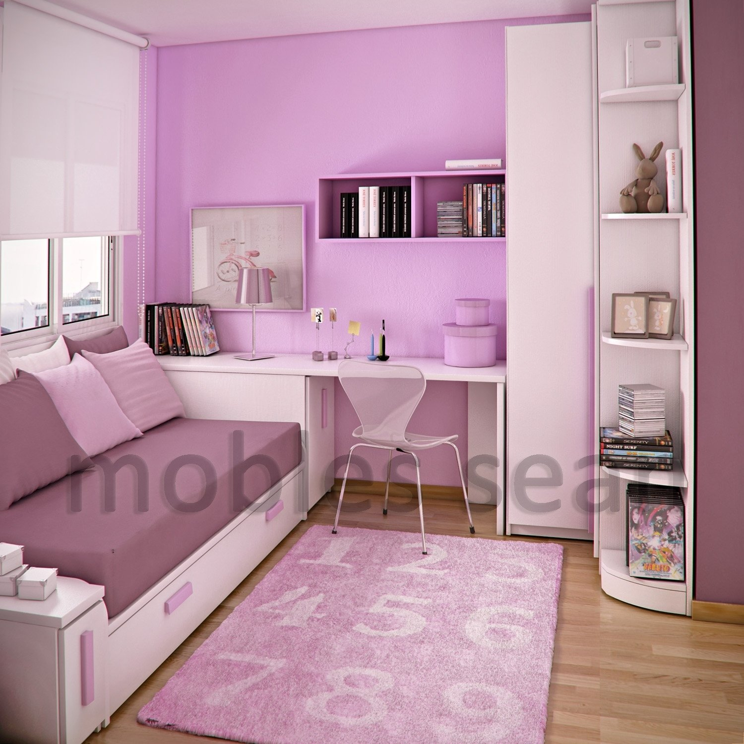 10 Unique Kids Bedroom Ideas For Small Rooms pink white small kids room decobizz 2020