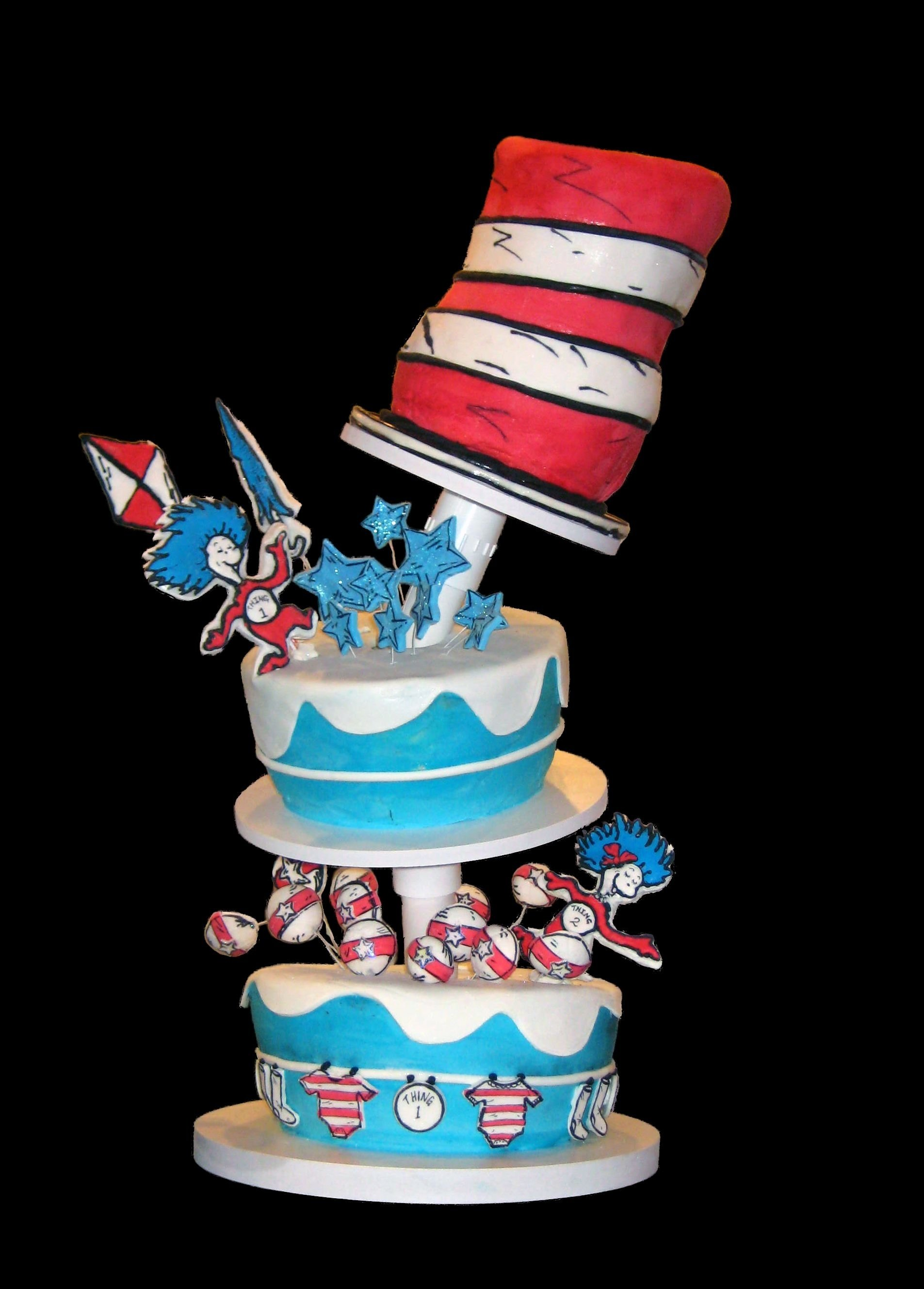 10 Awesome Thing 1 And Thing 2 Cake Ideas pinkatie bugg on twin baby shower pinterest hat cake cake