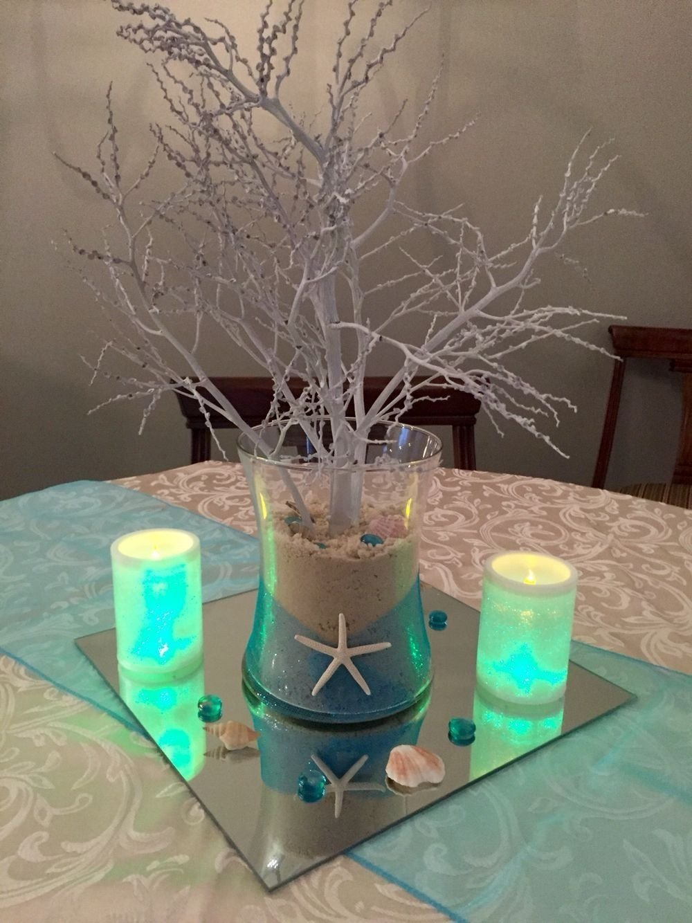 10 Fabulous Under The Sea Centerpiece Ideas pinmaryann on centros de mesa pinterest quinceanera ideas 2020