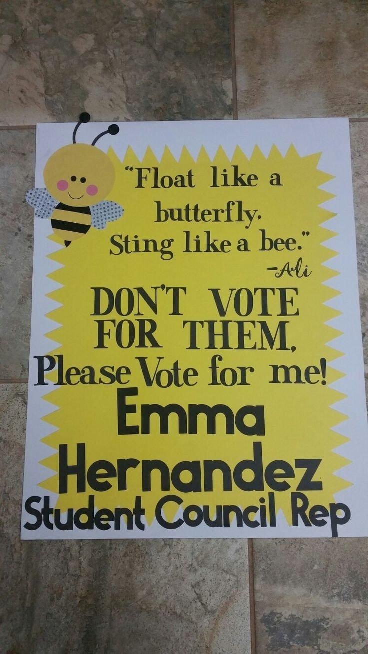 10 Unique Campaign Poster Ideas For Student Council pinnicole glancy on student council pinterest 4