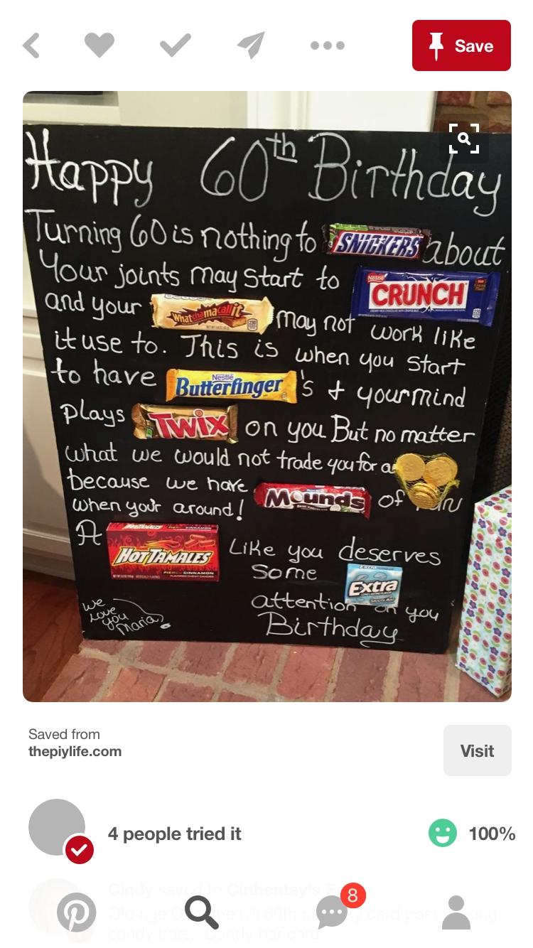 10 Stunning 60Th Birthday Gift Ideas For Men pinsierra ramos on birthdays pinterest birthdays birthday 2020