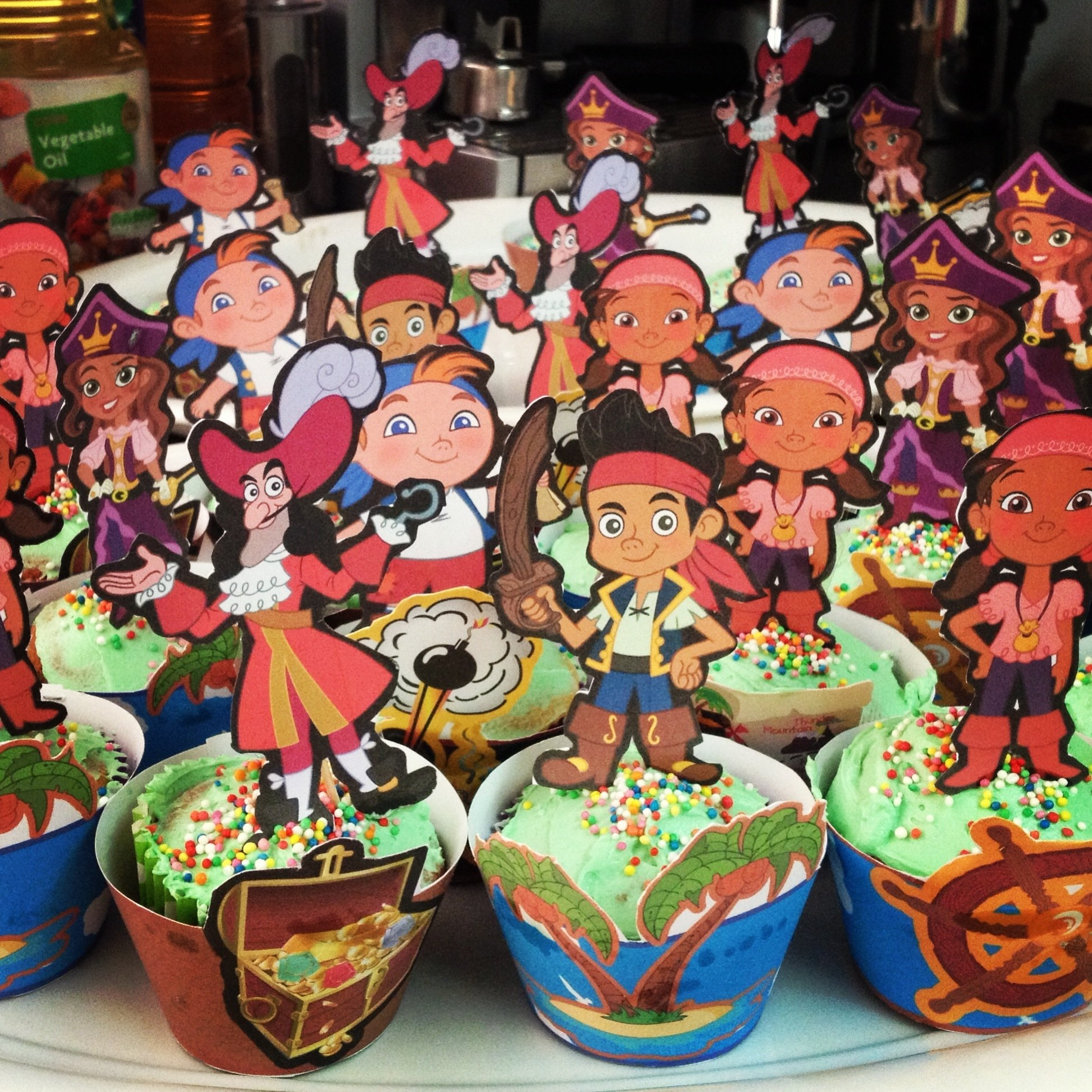 10 Awesome Jake And The Neverland Pirate Party Ideas pirate cupcakes for jake and the neverland pirates party birthday 2020
