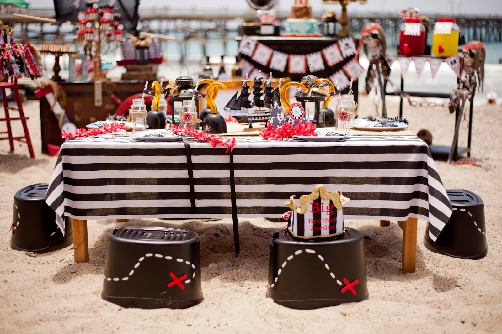 10 Fabulous Themed Birthday Party Ideas For Adults pirate party on the beach lauras little party 3