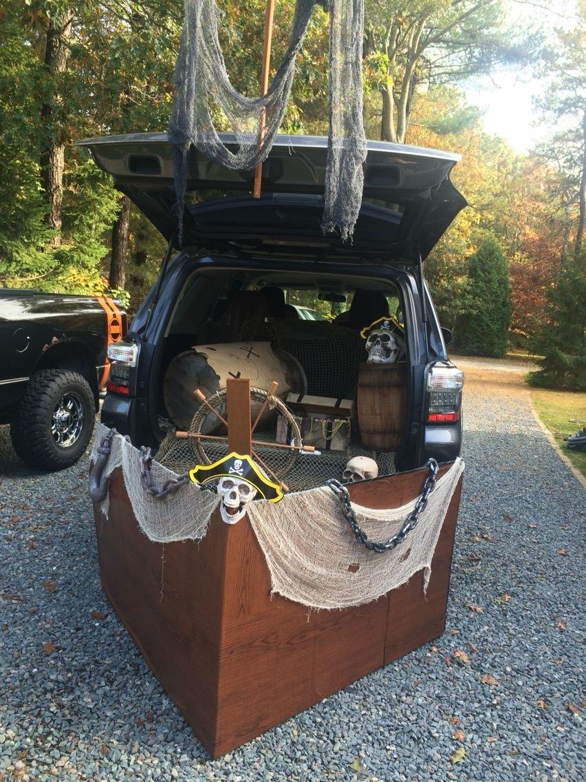 10 Nice Halloween Trunk Or Treat Ideas pirate ship trunk or treat peterson trunk or treat pinterest 4 2020
