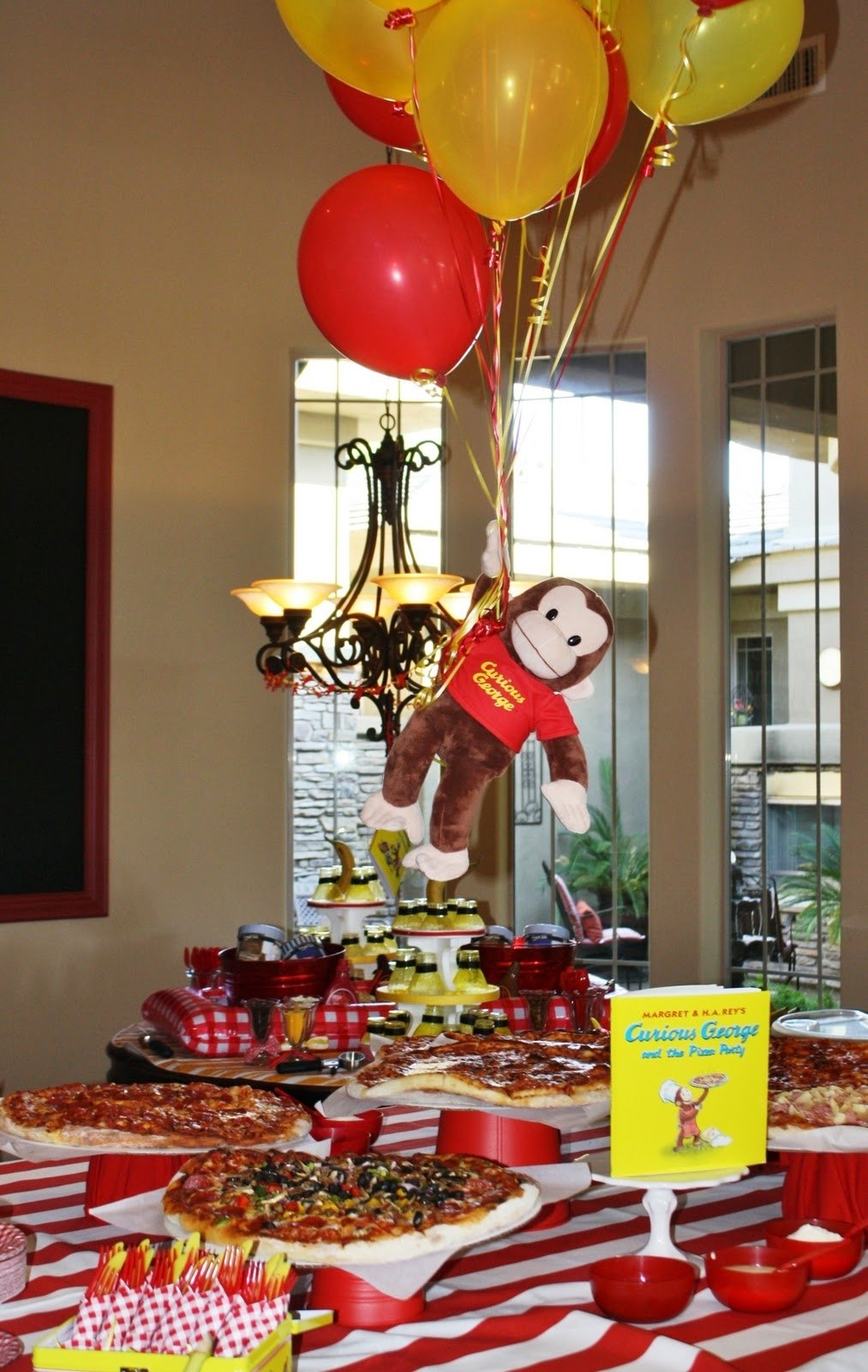 10 Fashionable Curious George Birthday Party Ideas pizza buffet curious e pinterest curious george buffet and pizzas 2020