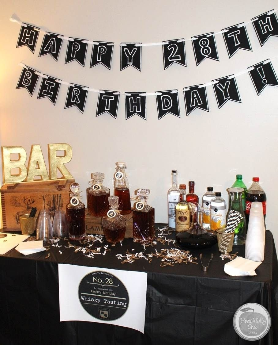 10 Fantastic Surprise Party Ideas For A Man planning a guys birthday party whiskey tasting manly theme party 4 2020