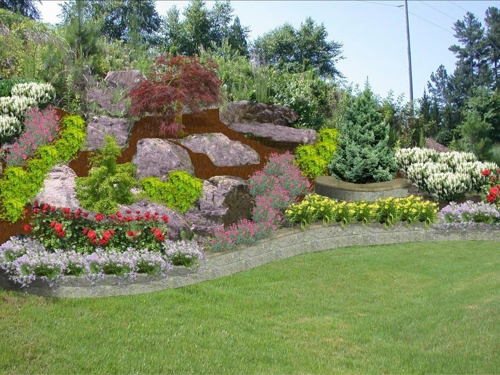 10 Lovable Landscape Ideas For A Slope plants to landscape shade slope to prevent erosion cover within 2021