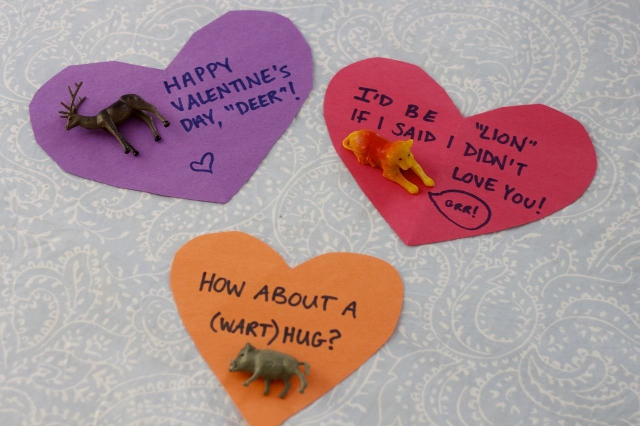 10 Attractive Valentine Card Ideas For Kids plastic animal toy valentines idea crafty morning 2020