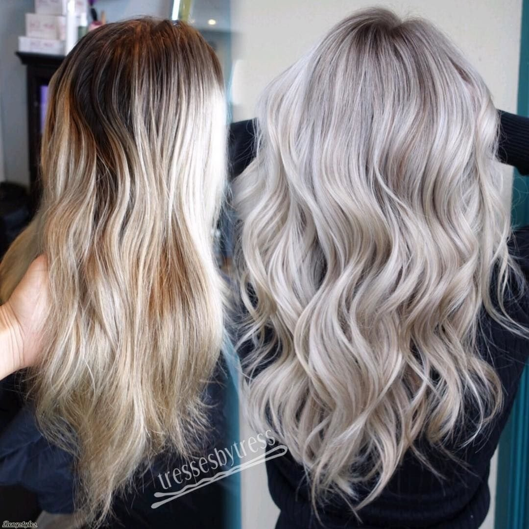 10 Attractive Hair Coloring Ideas For Blondes platinum blonde and curly lob hair curly lob lob hair and lob 2020