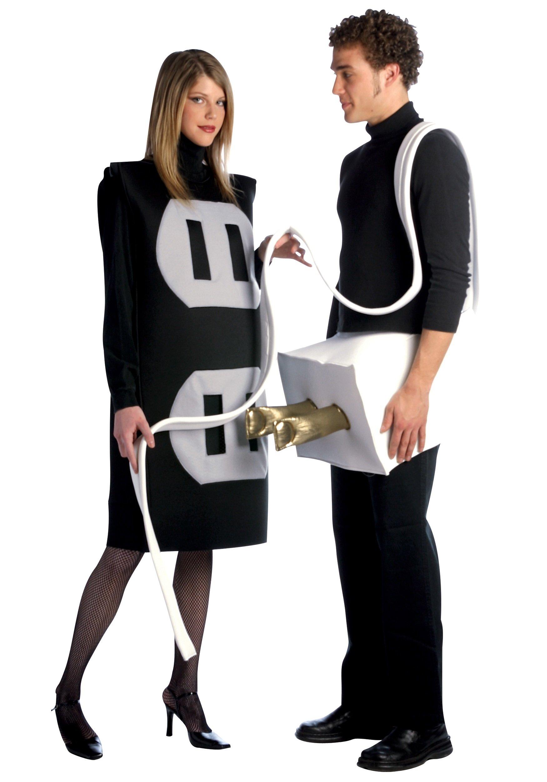 plug and socket costume - funny couples costume ideas