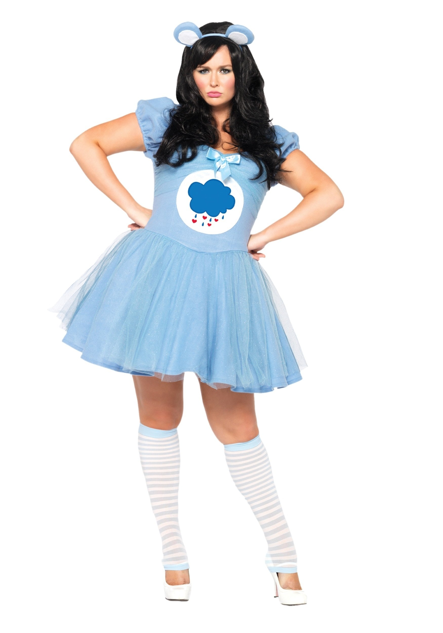 plus size care bears grumpy bear costume - halloween costumes