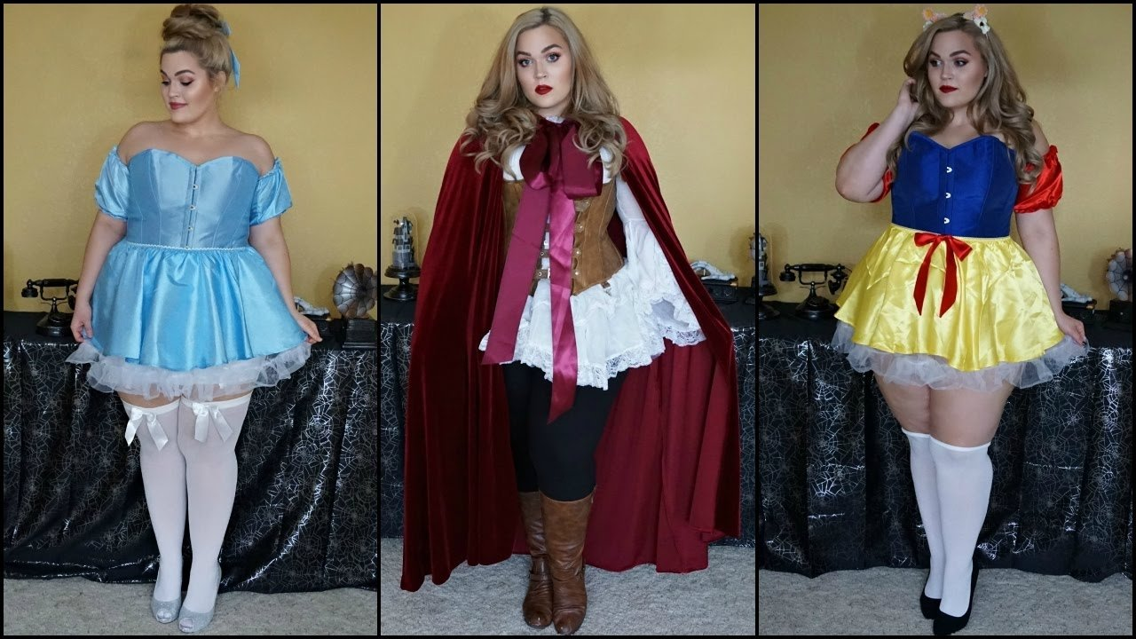 10 Pretty Homemade Plus Size Costume Ideas plus size fairytale lookbook halloween 2015 youtube 2020
