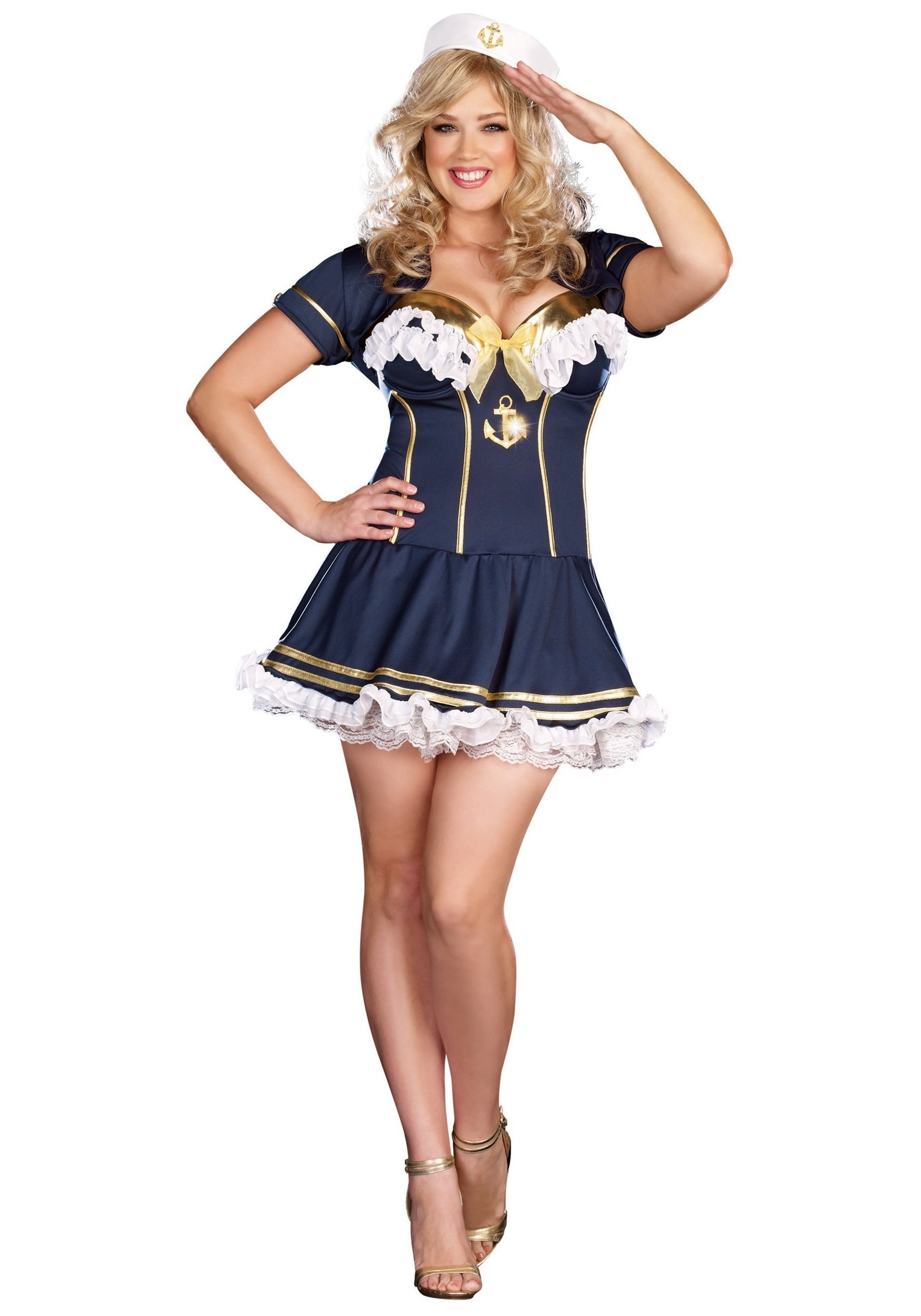 10 Famous Pin Up Girl Costumes Ideas plus size navy pin up sailor costume halloween costumes 2021