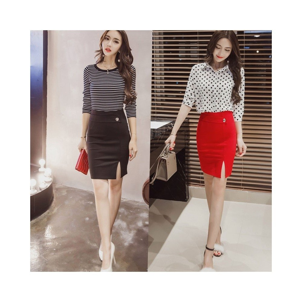 10 Perfect Red Pencil Skirt Outfit Ideas plus size women skirts high waist fashion pencil skirt casual 2020