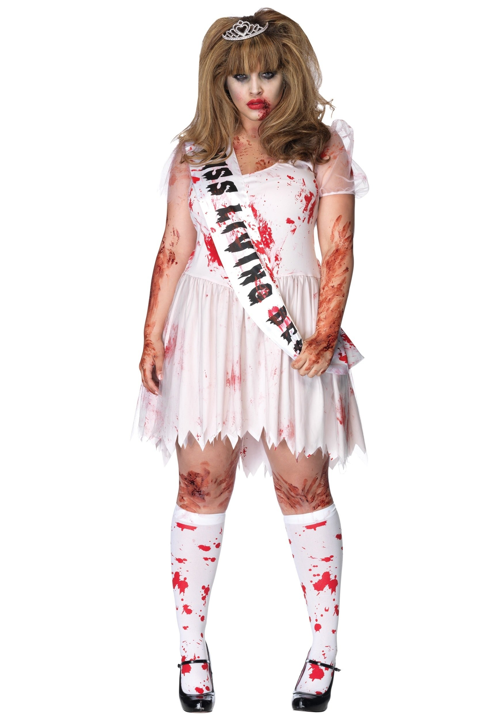 10 Amazing Zombie Costume Ideas For Girls plus size zombie prom queen costume