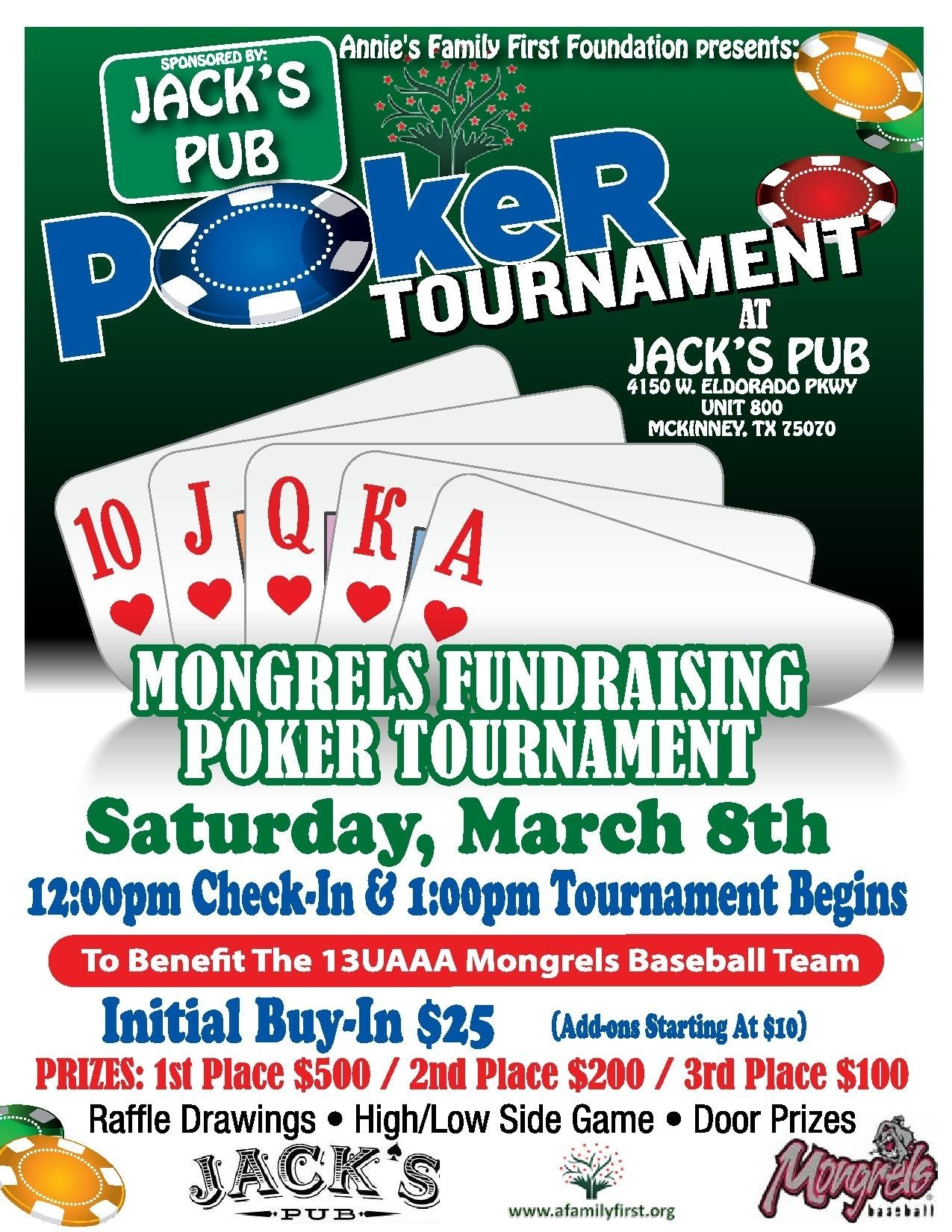 poker fundraising tournament benefitting the 13uaaa mckinney