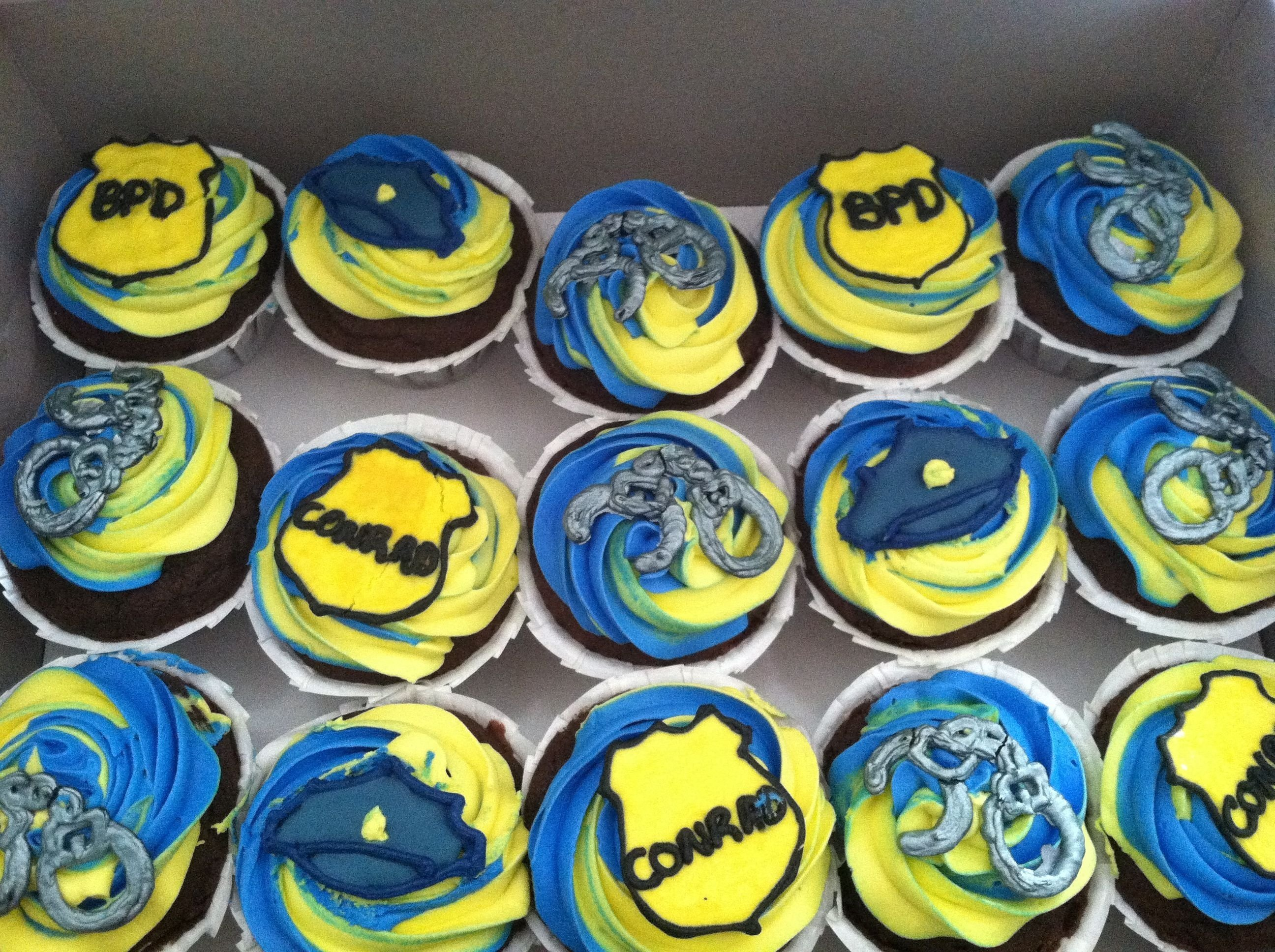 10 Beautiful Police Academy Graduation Party Ideas police academy graduation cupcakes cakes cupcakes pinterest
