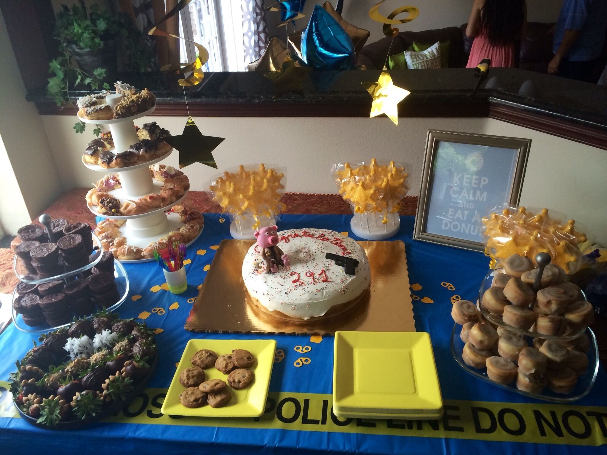police academy graduation dessert table | party stuff | pinterest