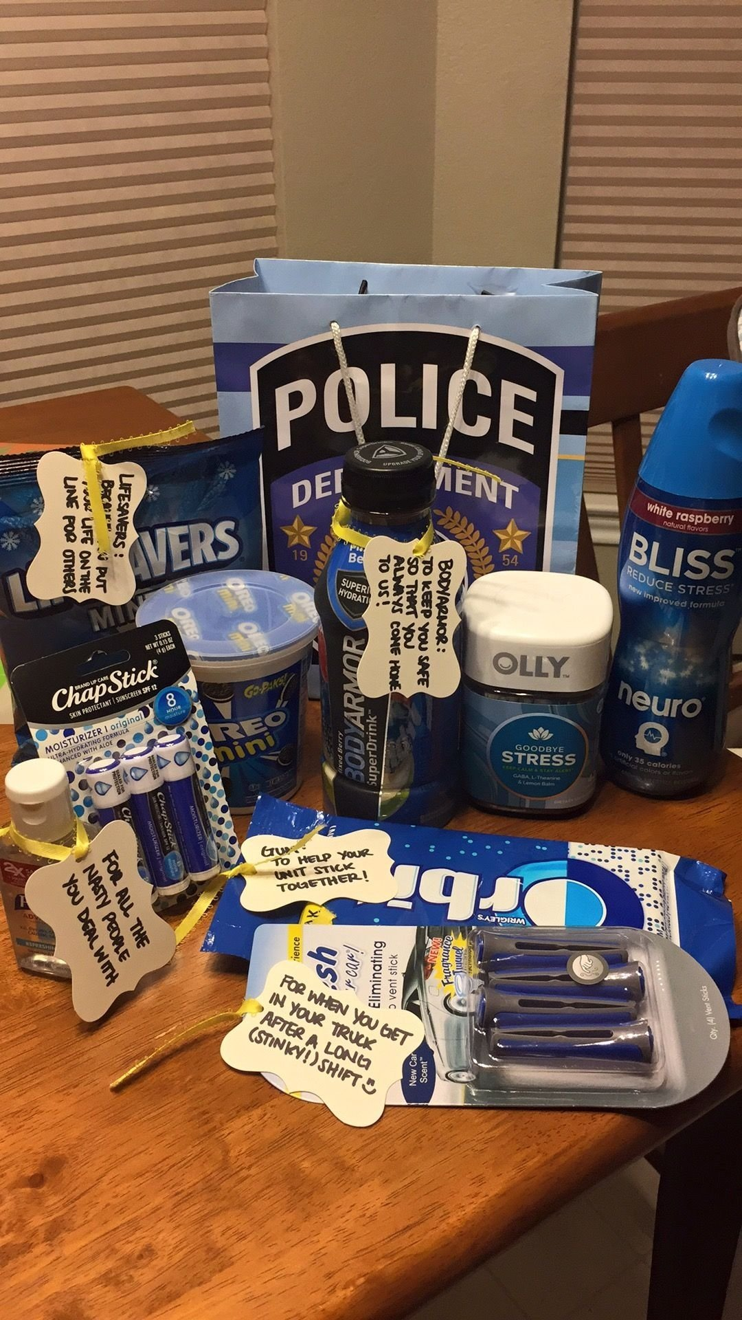 police appreciation gift for my husband! | police | pinterest