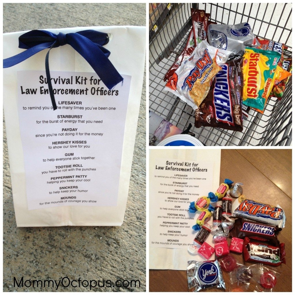 10 Lovable Gift Ideas For Police Officers police officer survival kit appreciation week goodie bags goodie 2020