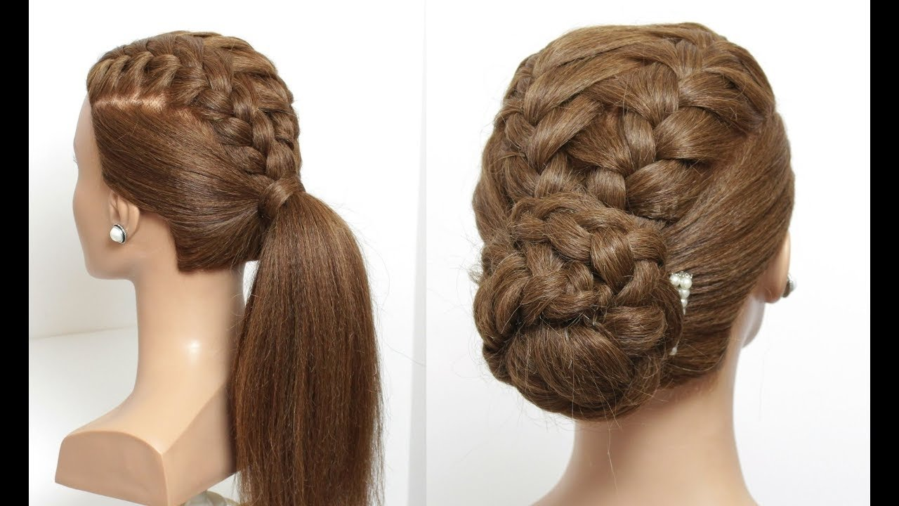 10 Famous Hairstyles Ideas For Long Hair ponytail and updo for long hair 2 cute braided hairstyle ideas 2020