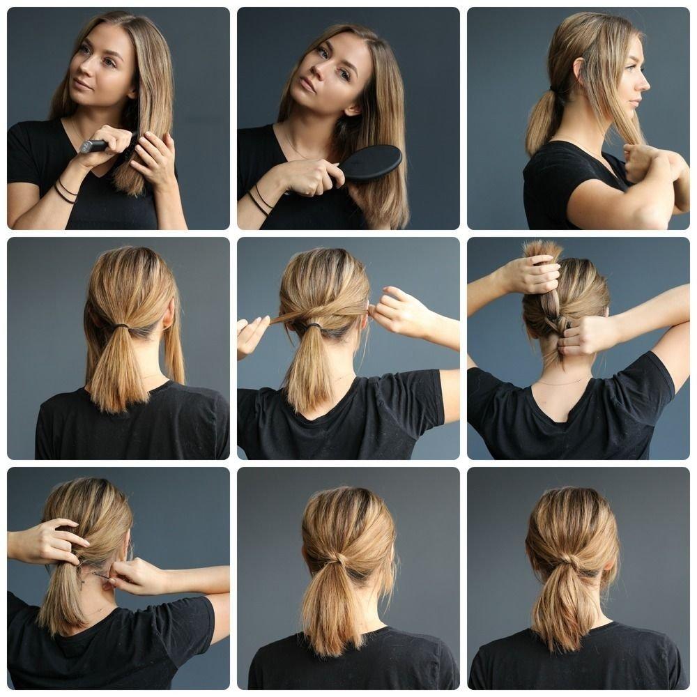 10 Unique Ponytail Ideas For Short Hair ponytail on short hair tutorials kalisi skandinavia lob how to 2021