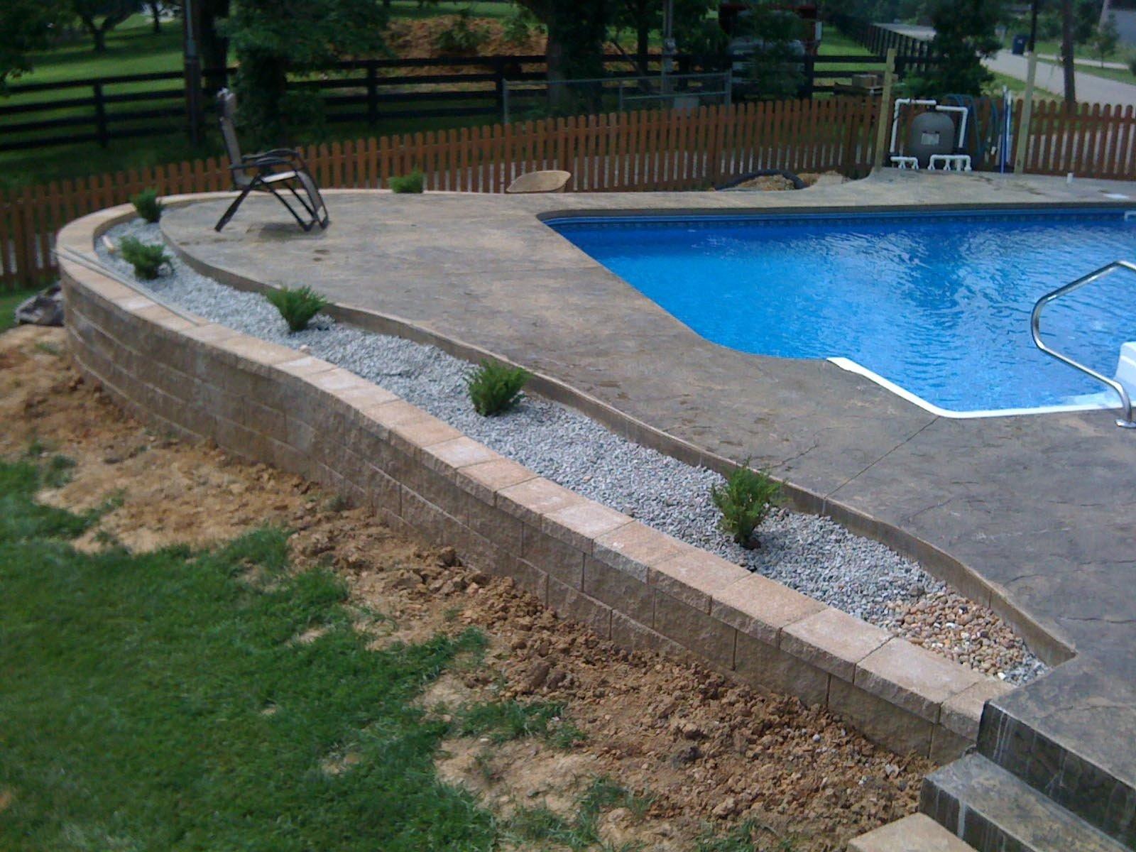 10 Elegant Pool Deck Ideas For Inground Pools pool deck ideas for inground pools with backyard design 2021