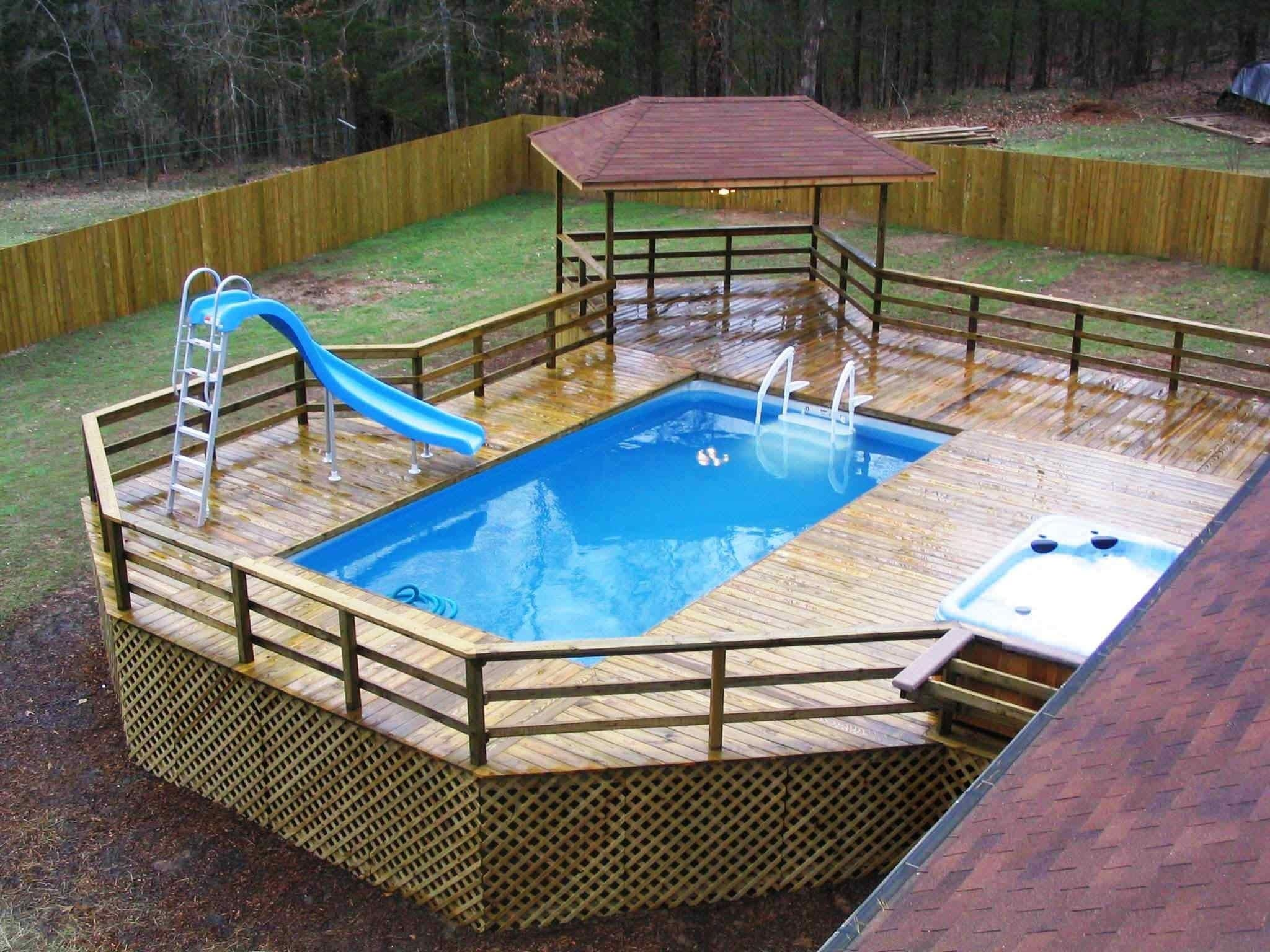 10 Unique In Ground Pool Deck Ideas pool decking for above ground pool google search decks 2020