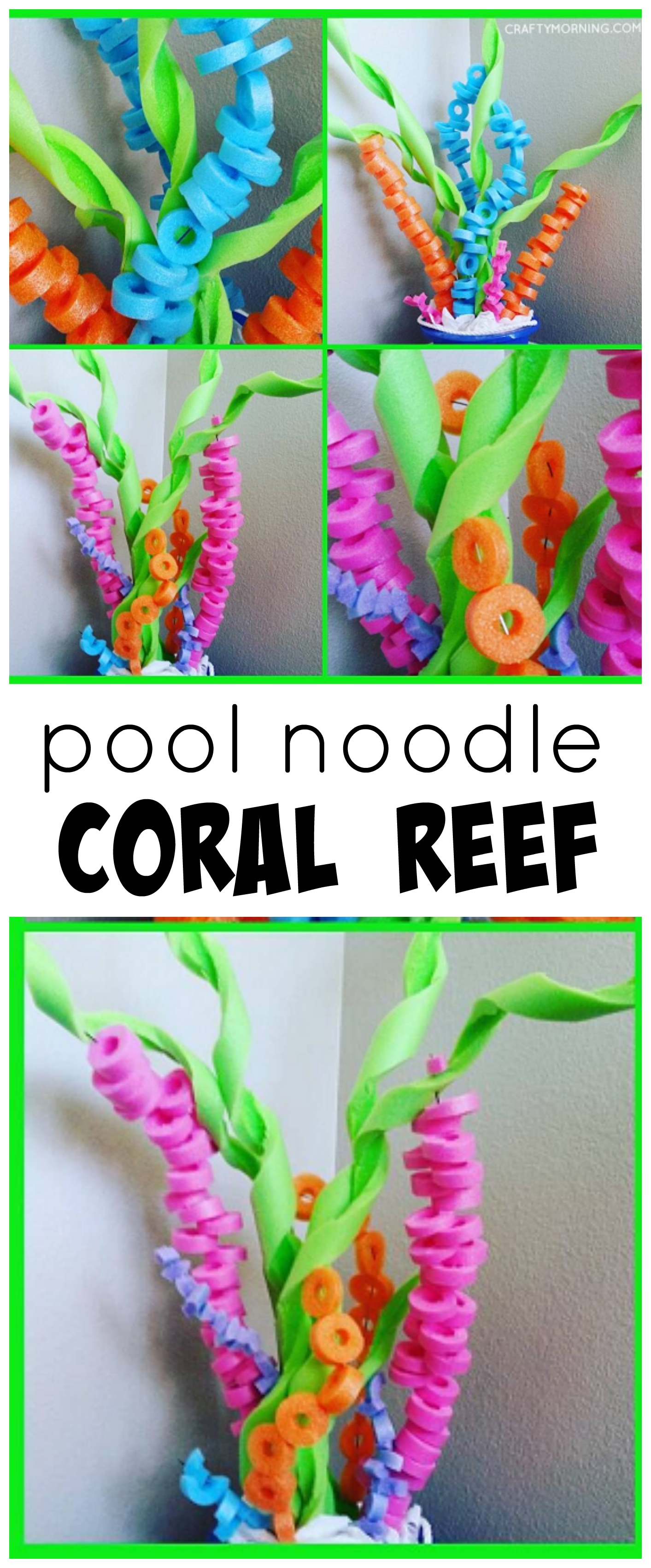 10 Attractive Under The Sea Party Ideas pool noodle coral reef craft for an under the sea party with kids