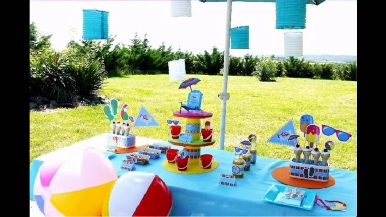 pool party decorations for kids - youtube