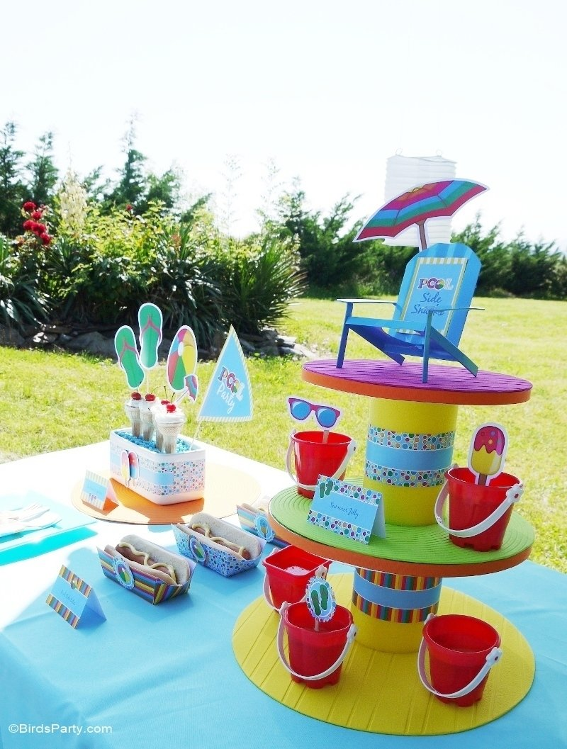 10 Nice Summer Party Ideas For Kids pool party ideas kids summer printables diy decoration 1 2020