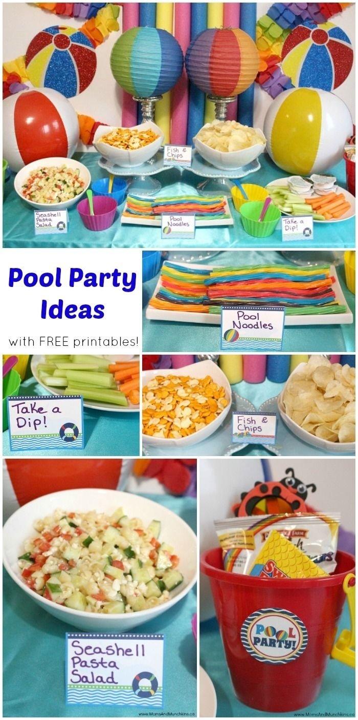 10 Stylish Pool Party Food Ideas For Kids pool party printables free free pool party printables and birthdays 2020