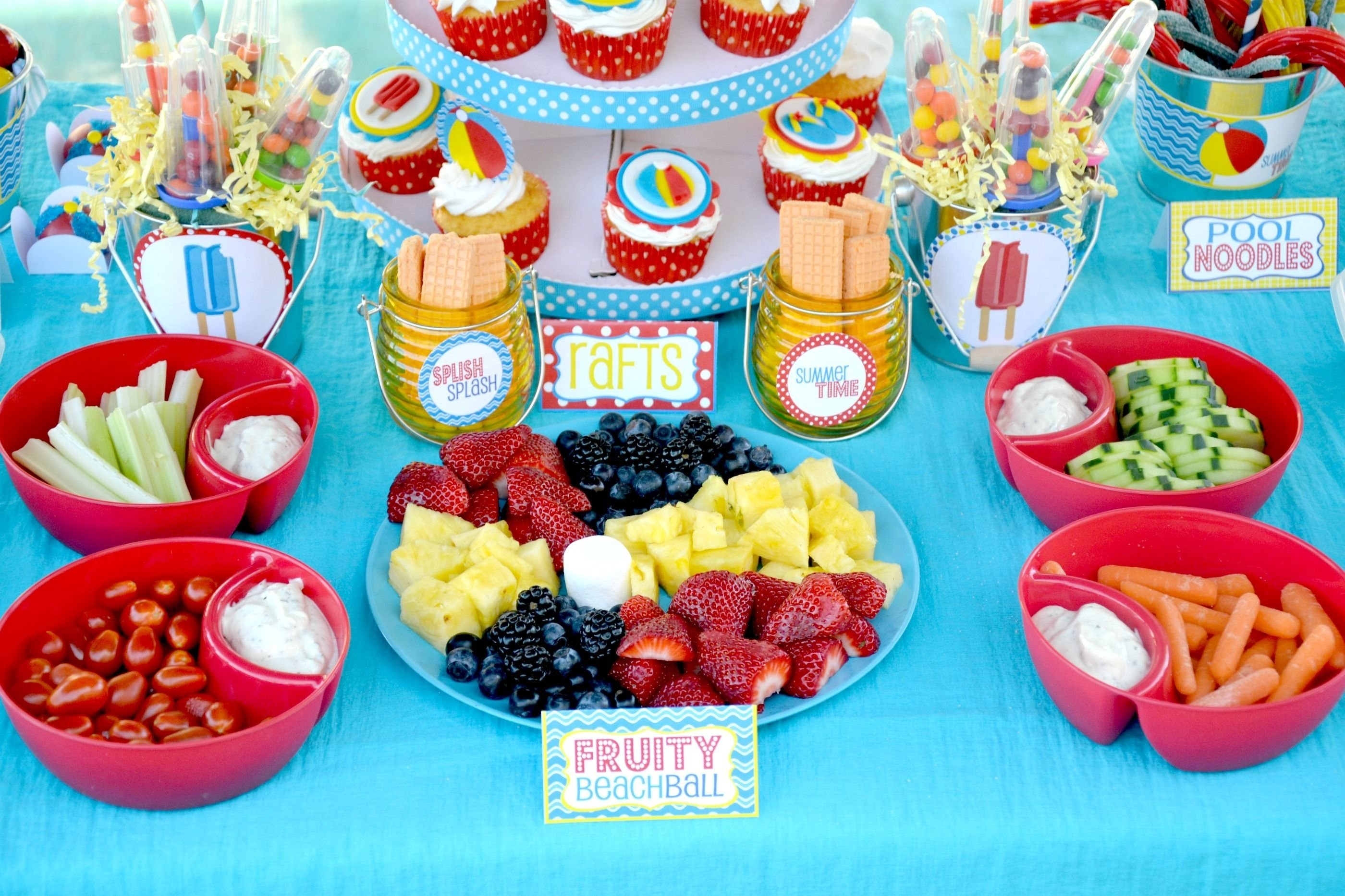 10 Stylish Pool Party Food Ideas For Kids pool party splish splash schools out party 2020