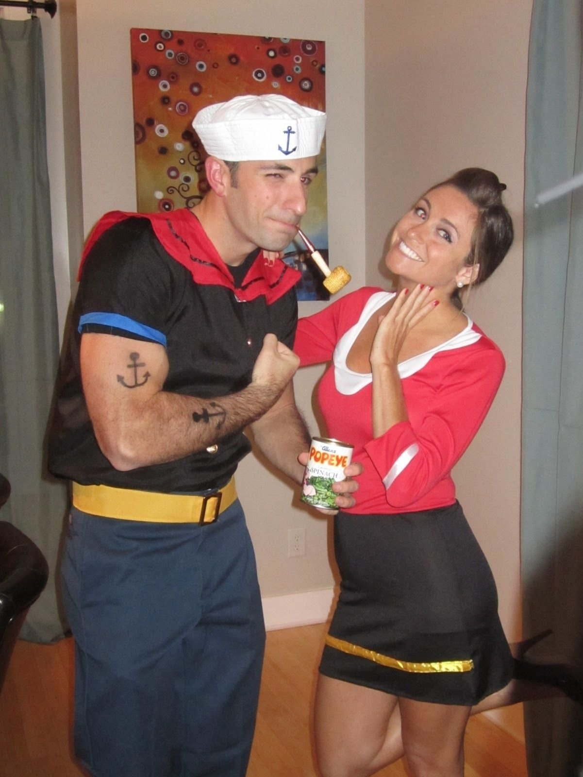 10 Best Unique Couple Halloween Costume Ideas popeye olive oyl costumes pinterest popeye olive oyl