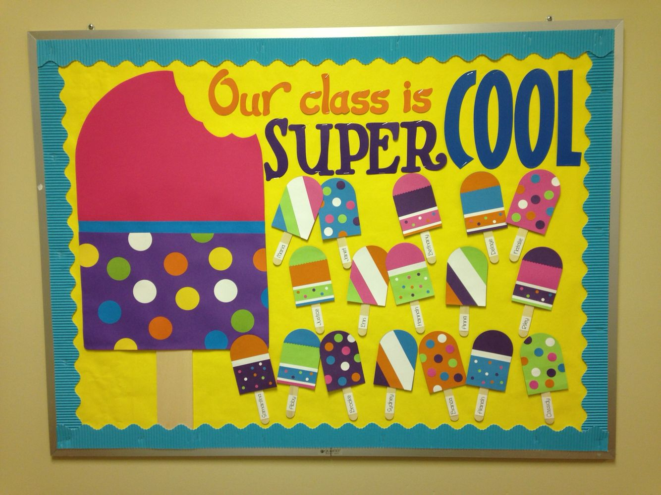10 Gorgeous Back To School Preschool Bulletin Board Ideas popsicle bulletin board bulletin boards daycare bulletin boards 2020