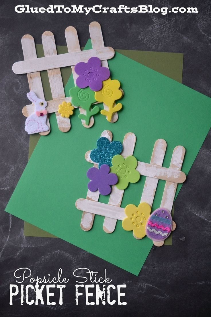10 Most Recommended Spring Craft Ideas For Preschoolers popsicle stick picket fence kid craft fences spring and crafts 2021